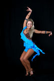 Blonde latin dancer Royalty Free Stock Photography
