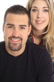 Blonde & latino man. Beautiful blonde & latino man isolated on white Royalty Free Stock Photo