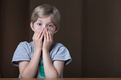 Blonde little boy Stock Images