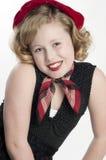 Blonde Little Girl Model Stock Photo
