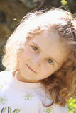 Blonde Little Girl Smiling Royalty Free Stock Photos