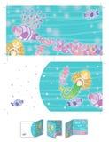 Blonde little mermaid. Royalty Free Stock Photo