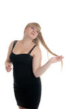 Blonde with long hair Stock Images