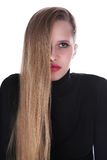 The blonde with long hair Stock Images