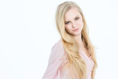 Blonde with long hair Royalty Free Stock Photo