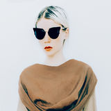 Blonde in luxury sunglasses. Royalty Free Stock Photography