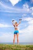 Blonde Mädchenübung Lizenzfreies Stockbild