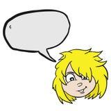 Blonde Mädchenblase Lizenzfreie Stockbilder