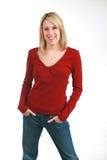 Blonde maigre Photos libres de droits