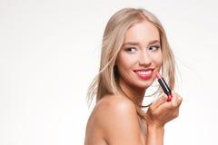 Blonde Make-upschönheit Stockfotos