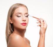 Blonde Make-upschönheit Lizenzfreie Stockfotos