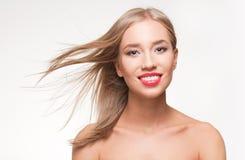 Blonde Make-upschönheit Stockfotografie