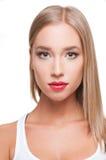 Blonde Make-upschönheit Stockbilder