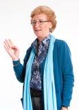 Blonde mature lady Stock Image