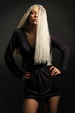 Blonde met dreadlocks Stock Foto