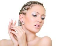 Blonde met dreadlocks Stock Afbeeldingen