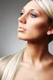 Blonde met mooi lang haar Stock Afbeelding
