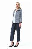 Blonde Mode-Modell-Unternehmensleiterfrau Lizenzfreies Stockfoto