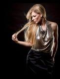 Blonde Modefrau Lizenzfreies Stockfoto