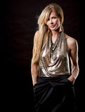 Blonde Modefrau Lizenzfreie Stockfotografie