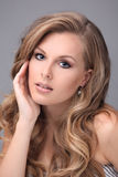 Blonde  model with beautiful hair Royalty Free Stock Images