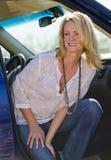 Blonde Model In Desert Stock Photos