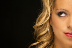 Blonde Model Headshot Stock Photography
