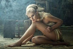 Free Blonde Model In A Vintage Interior Royalty Free Stock Images - 22239679