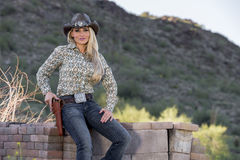Blonde Cowgirl Stock Photos