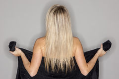 Blonde Model Showing Personal Hygene Stock Photo