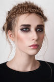 Blonde model with smoky eyes Royalty Free Stock Photo