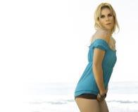 Blonde model turning Stock Images