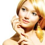 Blonde ModelGirl Royalty-vrije Stock Afbeeldingen