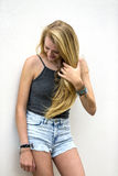 Blonde ModelOutdoors Stock Fotografie