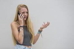 Blonde ModelOutdoors Stock Afbeeldingen