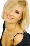 Blonde moderne Frau Stockbild