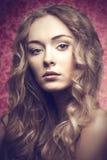Blonde mooi meisje royalty-vrije stock fotografie
