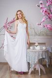 Blonde mooie bruid Royalty-vrije Stock Foto