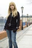 Blonde, mooie tiener Stock Foto's