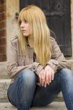 Blonde, mooie tiener Royalty-vrije Stock Afbeelding