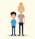 blonde mother son image Royalty Free Stock Images