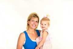 Blonde Mutter und Kleinkind Stockfoto