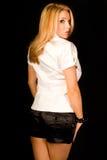 Blonde na parte superior aberta 'sexy' Imagens de Stock