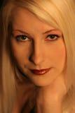 Blonde Nahaufnahme eine Stockfoto