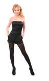 Blonde no preto imagens de stock royalty free