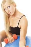 Blonde no treinamento Imagem de Stock