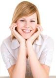 Blonde novo de sorriso imagens de stock royalty free