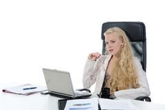 Blonde in the office Stock Image