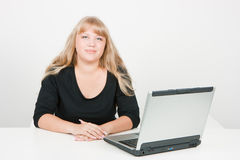 Blonde in office Royalty Free Stock Photo
