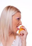 Blonde with orange Stock Image